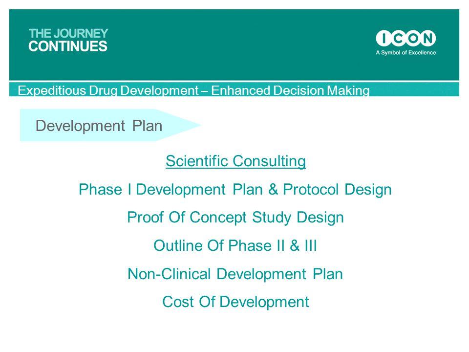 Scientific Consulting Phase I Development Plan & Protocol Design