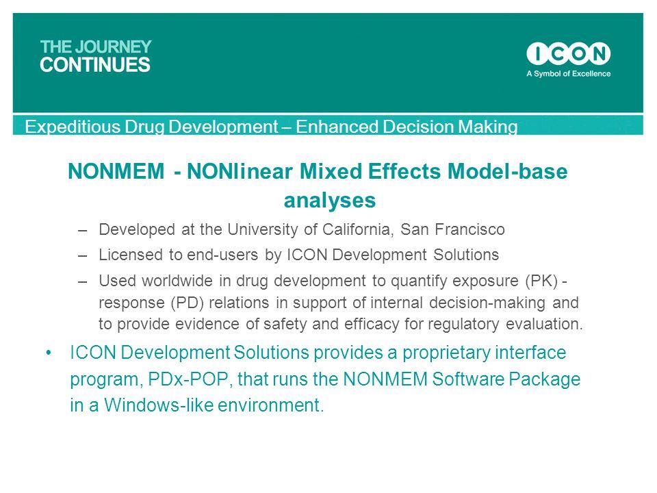 NONMEM - NONlinear Mixed Effects Model-base analyses