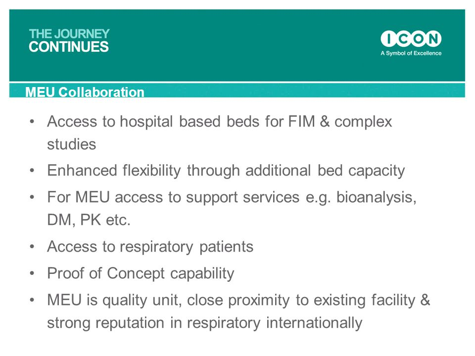 Access to hospital based beds for FIM & complex studies