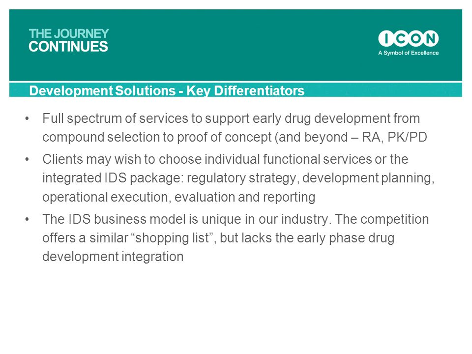 Development Solutions - Key Differentiators