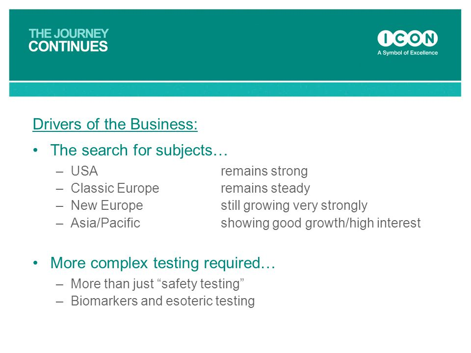 Drivers of the Business: The search for subjects…