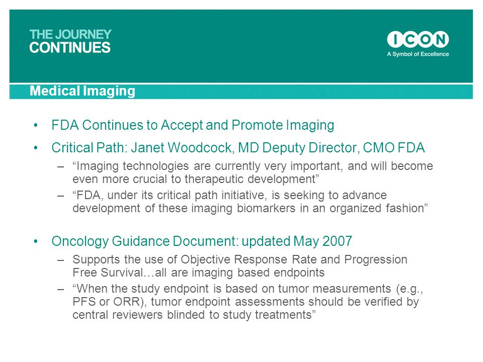 FDA Continues to Accept and Promote Imaging