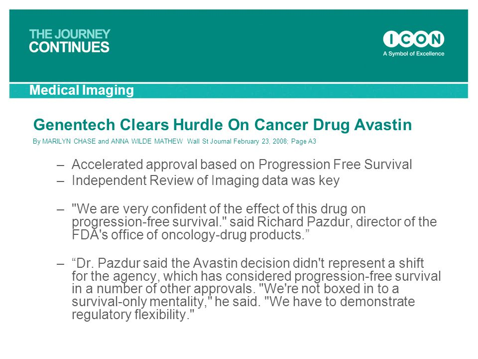 Genentech Clears Hurdle On Cancer Drug Avastin