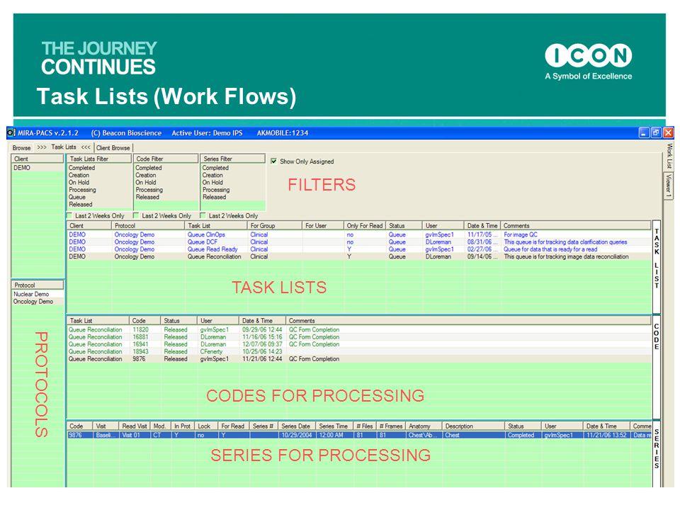 Task Lists (Work Flows)