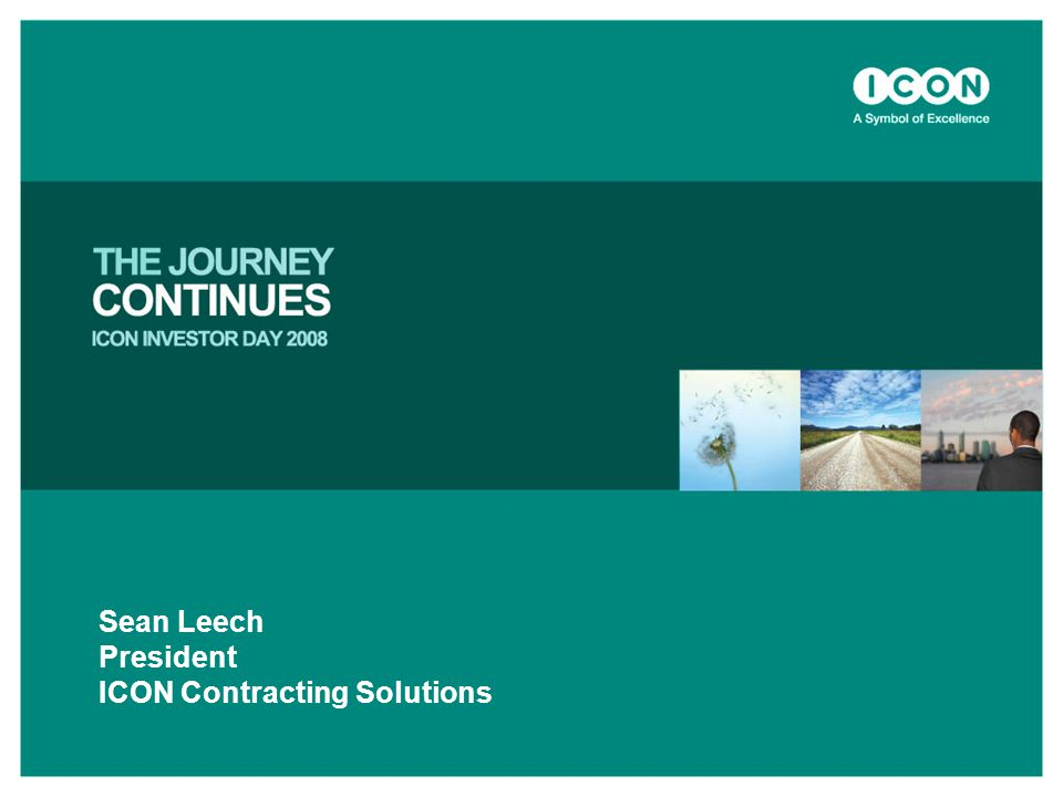 Sean Leech President ICON Contracting Solutions