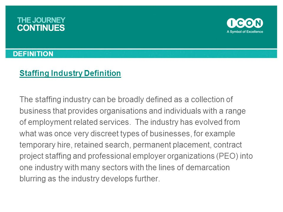 Staffing Industry Definition