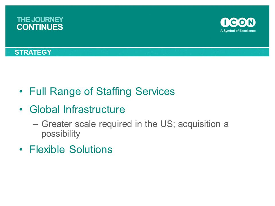Full Range of Staffing Services Global Infrastructure
