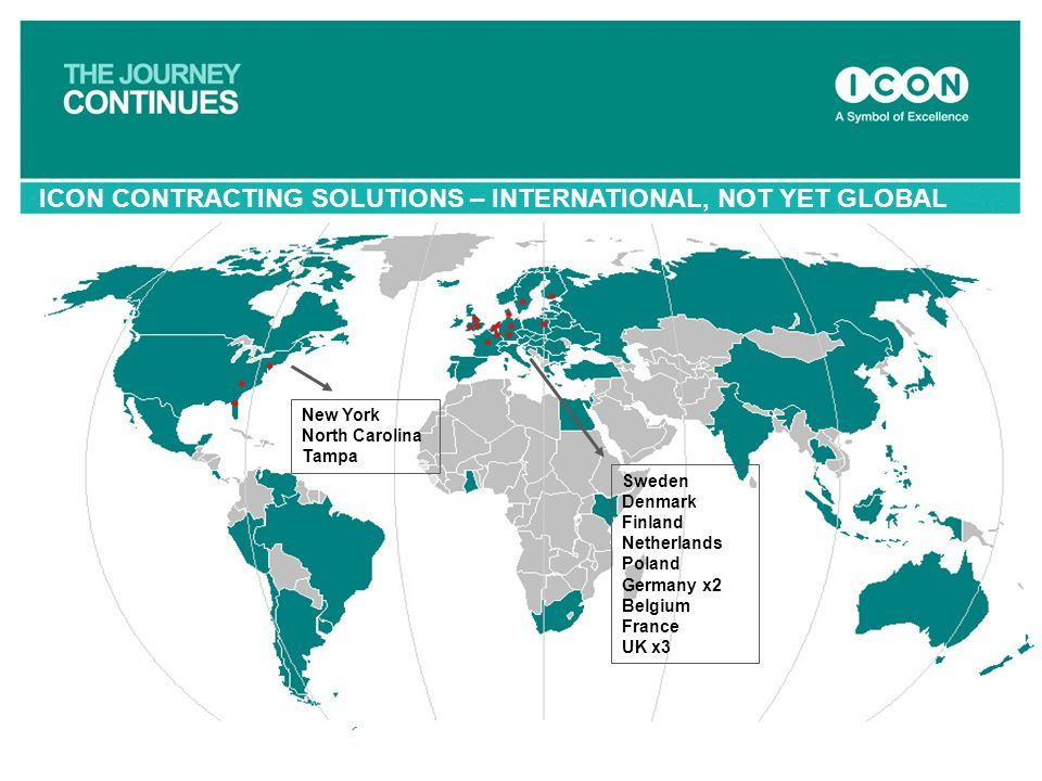 ICON CONTRACTING SOLUTIONS – INTERNATIONAL, NOT YET GLOBAL