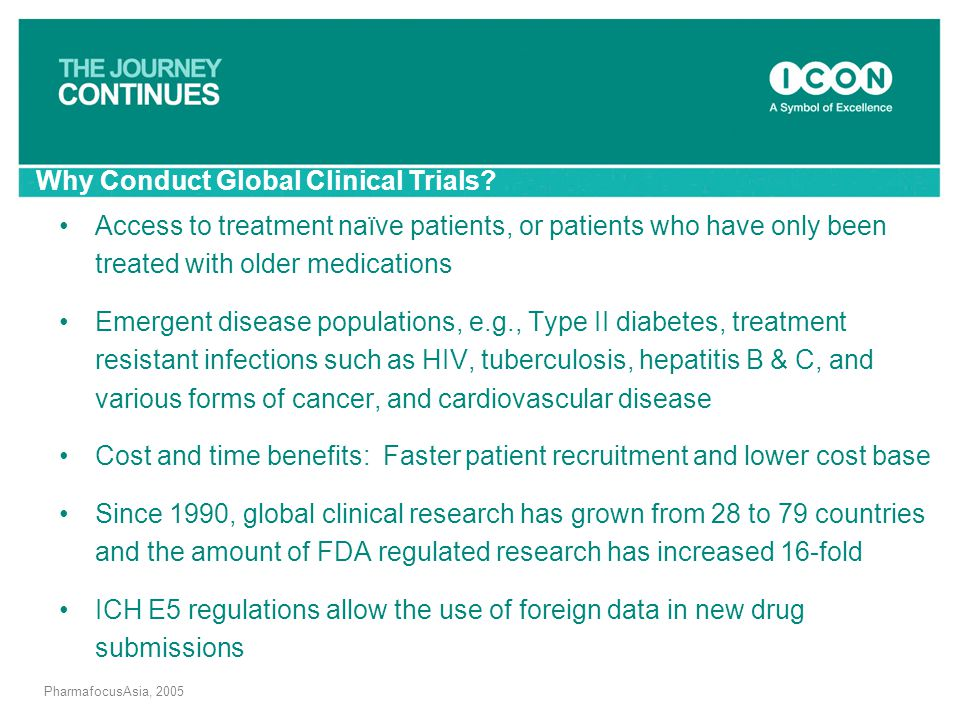 Why Conduct Global Clinical Trials