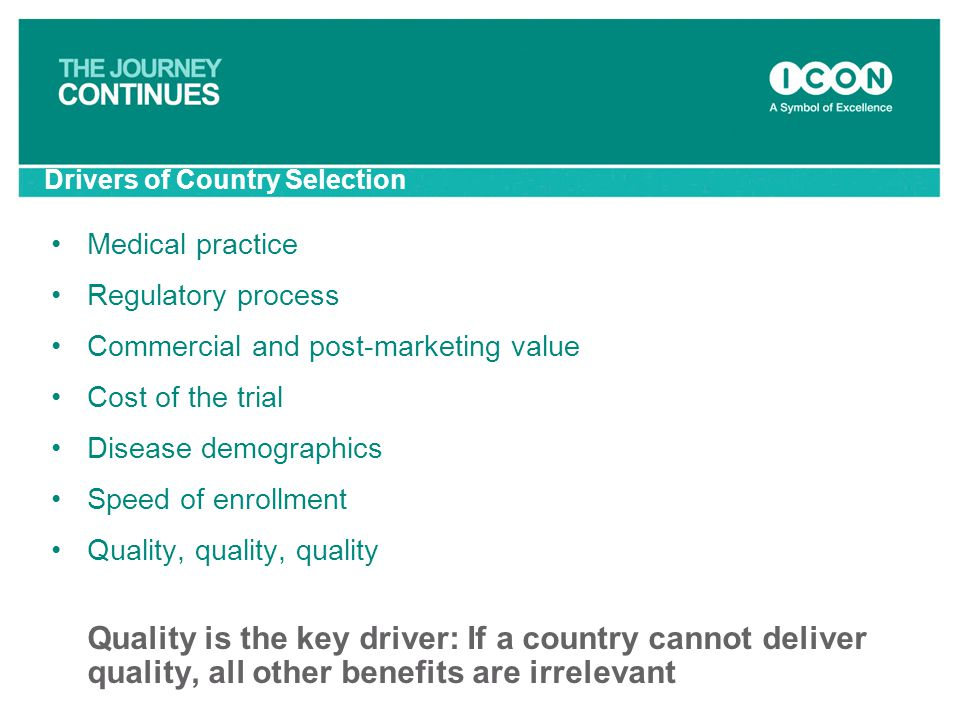 Drivers of Country Selection