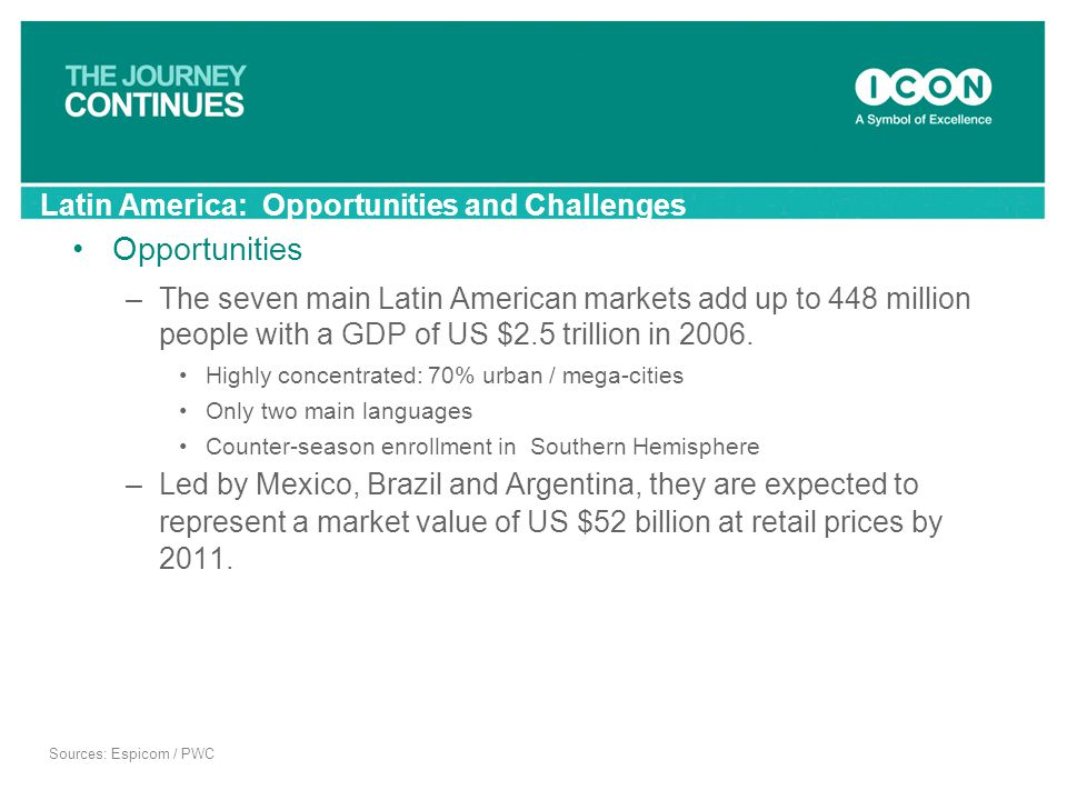 Latin America: Opportunities and Challenges