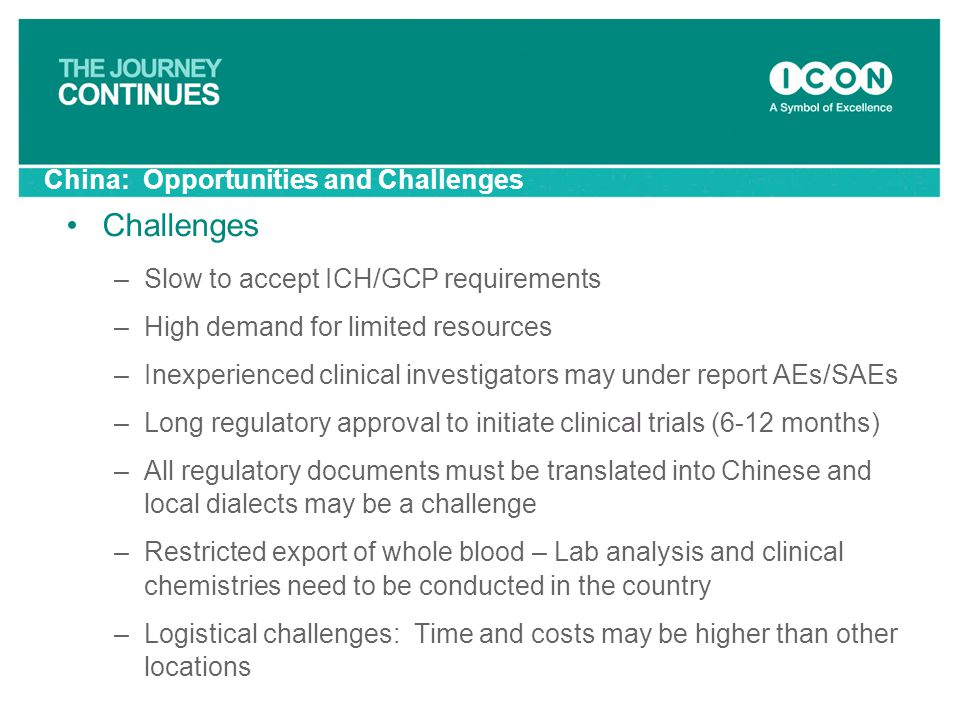 China: Opportunities and Challenges