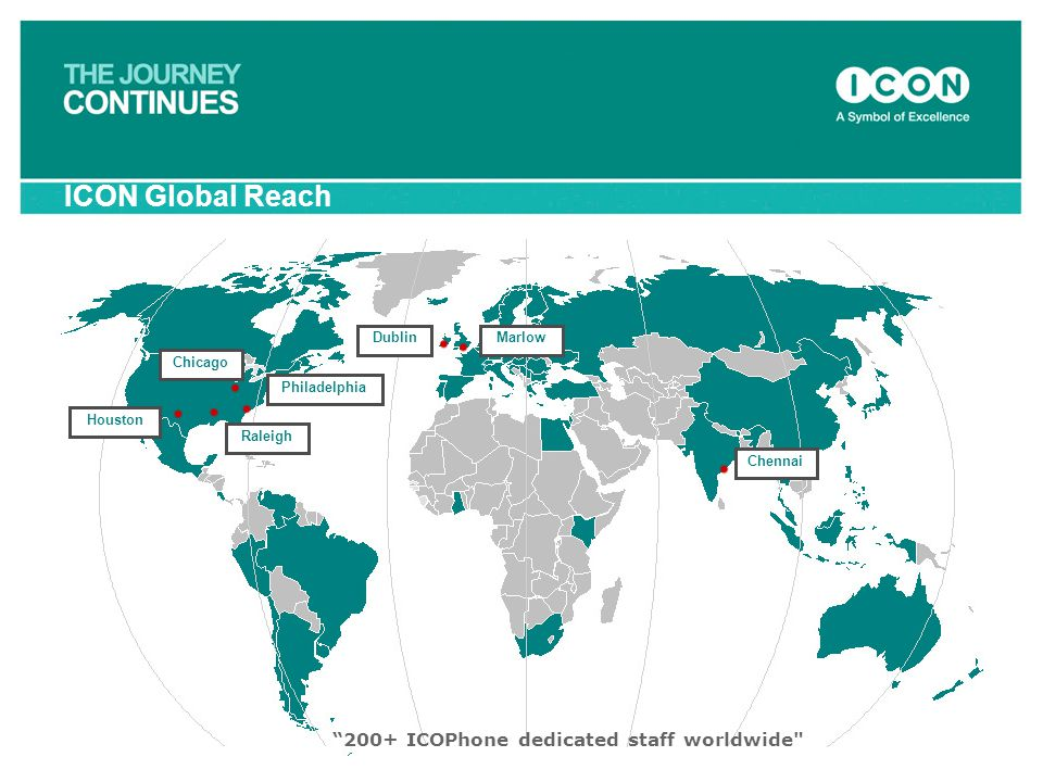 ICON Global Reach 200+ ICOPhone dedicated staff worldwide Dublin