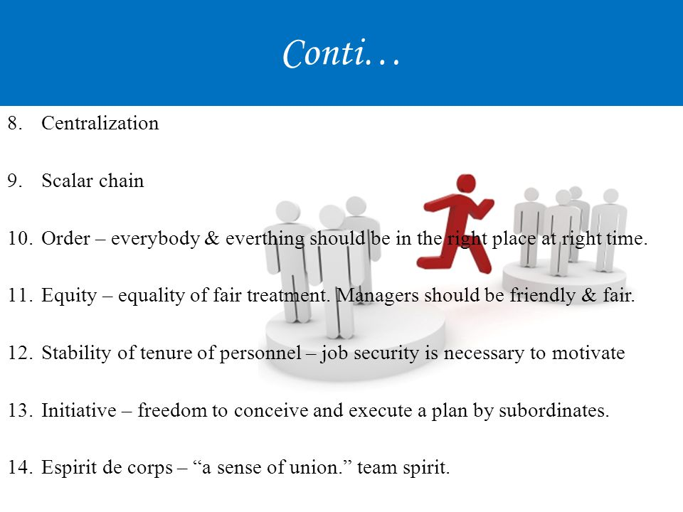 Conti… Centralization Scalar chain
