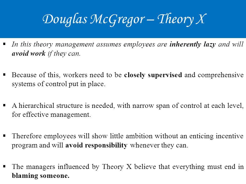 douglas mcgregors essay new concepts of management