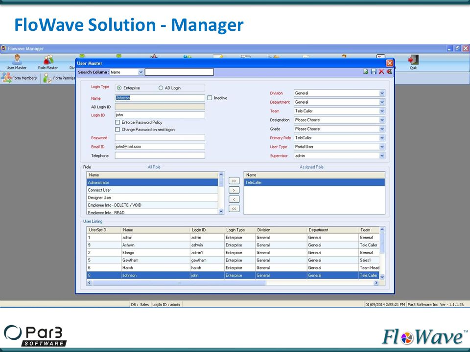 FloWave Solution - Manager