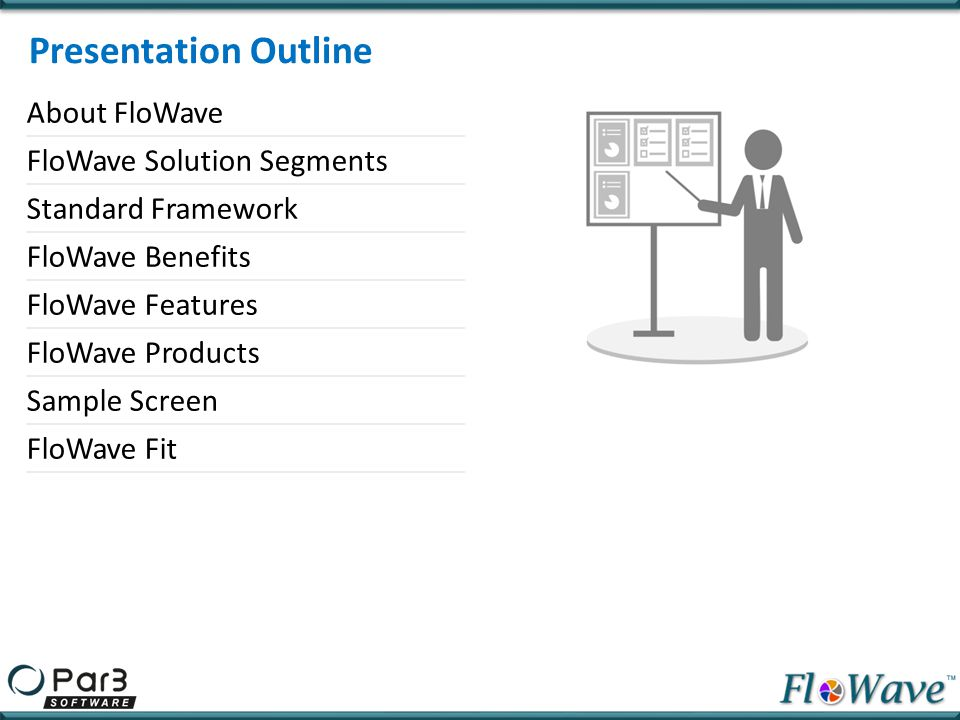 Presentation Outline About FloWave FloWave Solution Segments