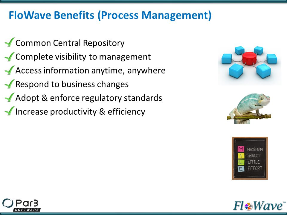 FloWave Benefits (Process Management)