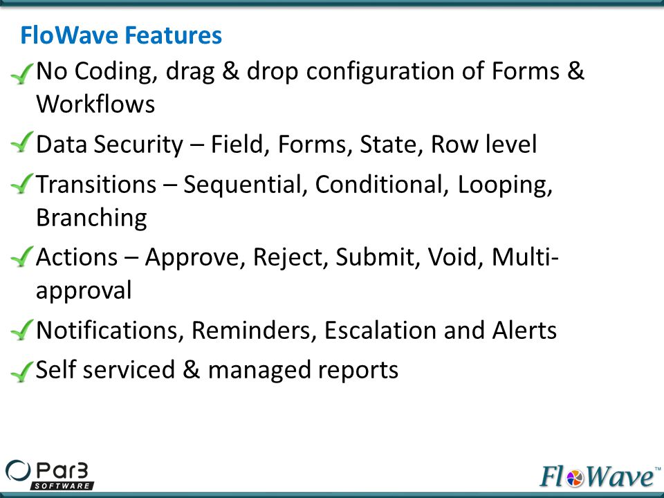 FloWave Features