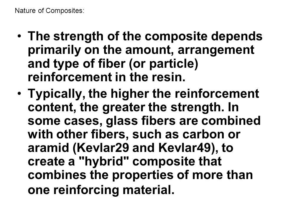 Nature of Composites: