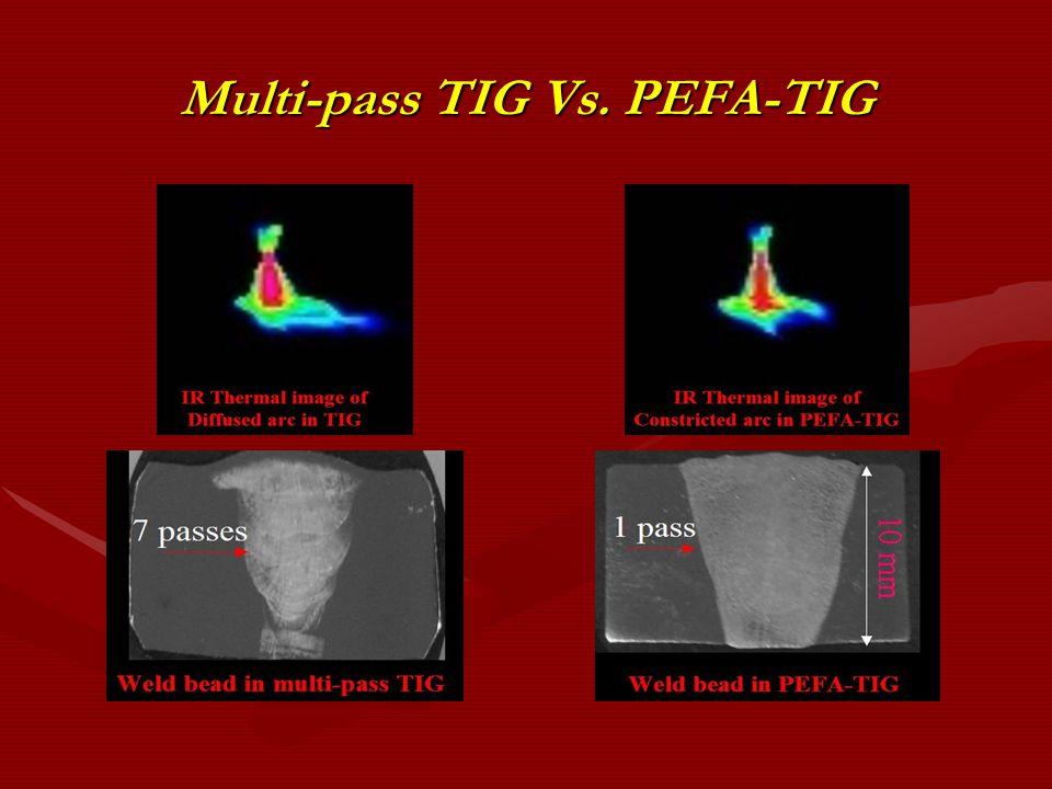 Multi-pass TIG Vs. PEFA-TIG