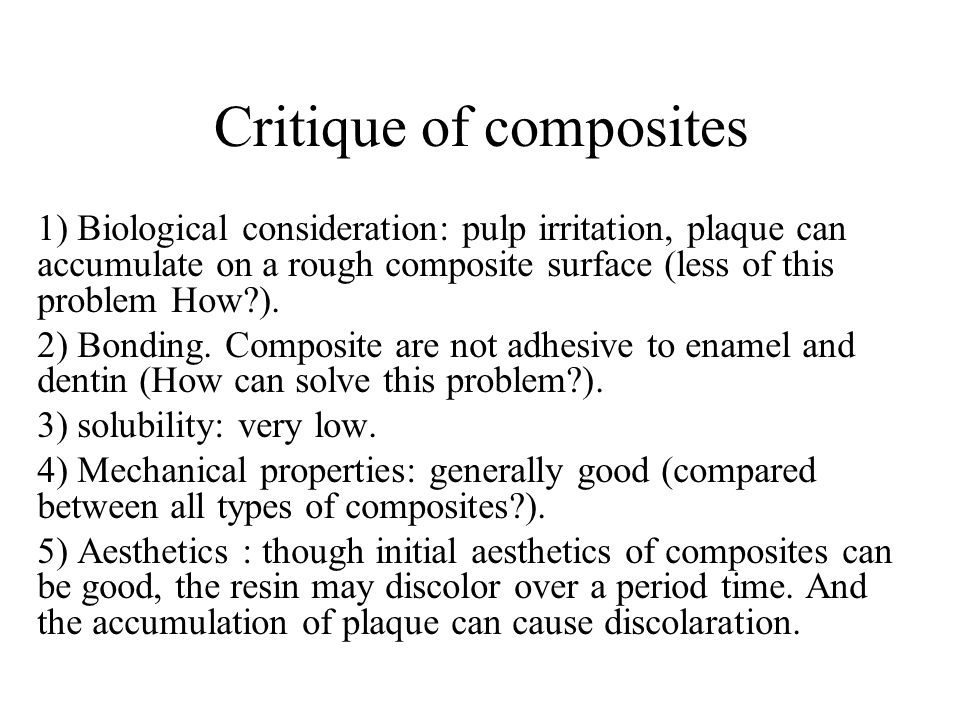 Critique of composites
