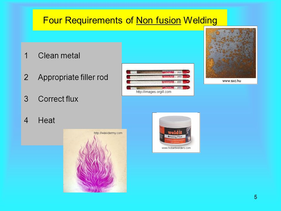 Four Requirements of Non fusion Welding