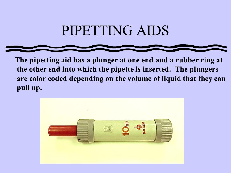 PIPETTING AIDS