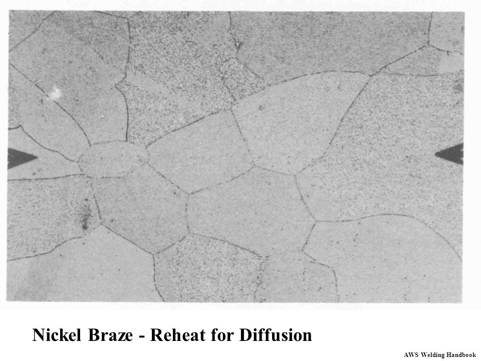 Nickel Braze - Reheat for Diffusion
