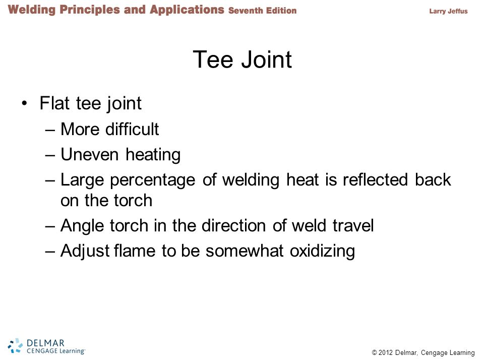 Tee Joint Flat tee joint More difficult Uneven heating
