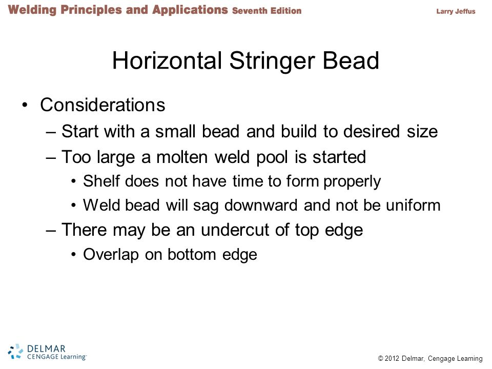 Horizontal Stringer Bead