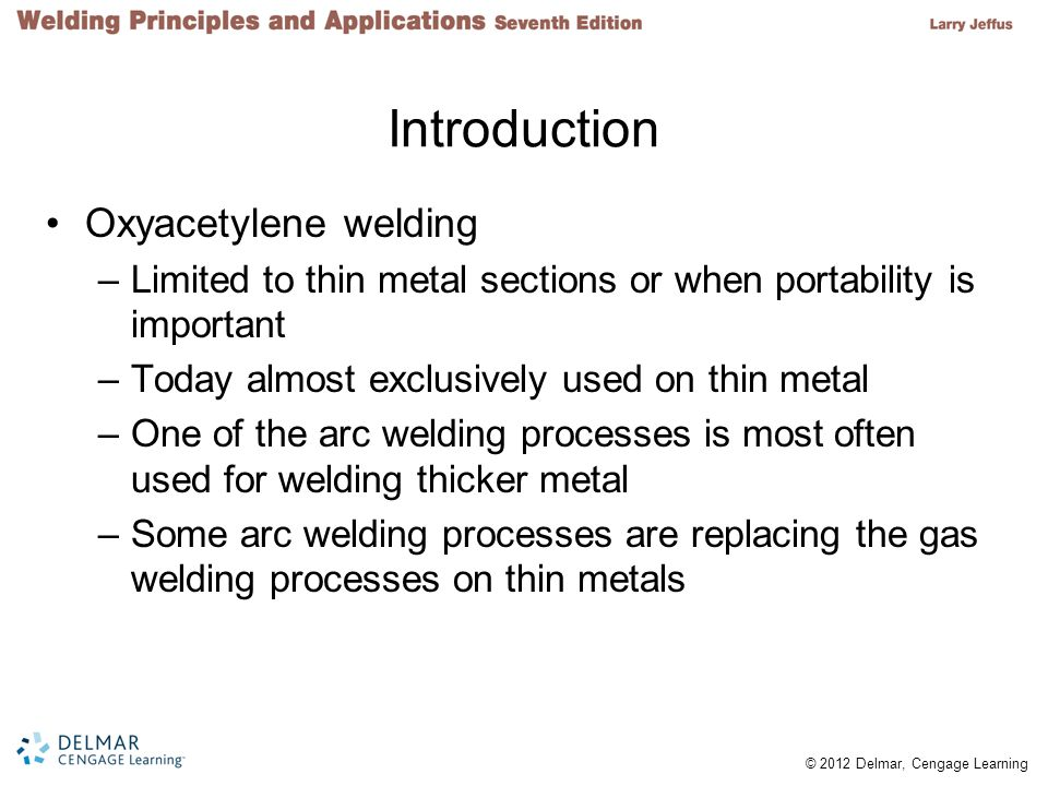 Introduction Oxyacetylene welding