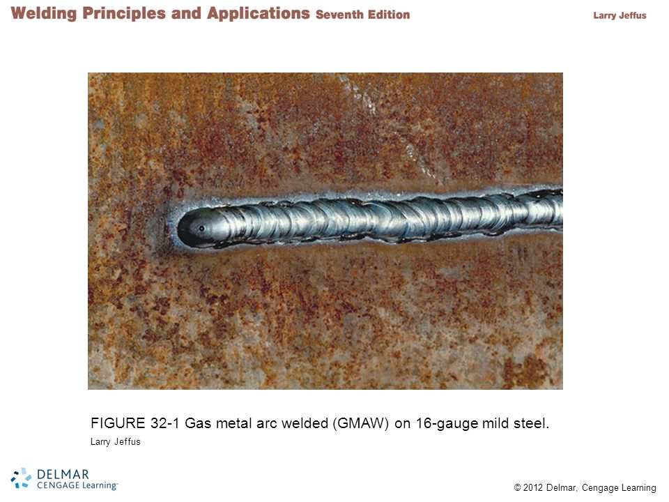 FIGURE 32-1 Gas metal arc welded (GMAW) on 16-gauge mild steel.