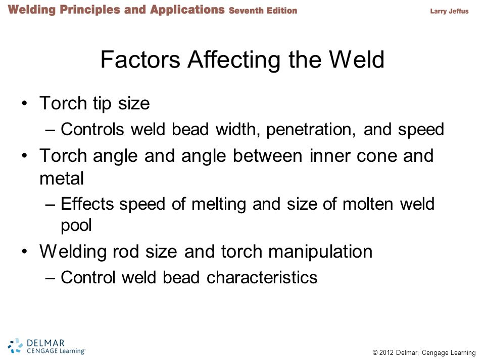 Factors Affecting the Weld