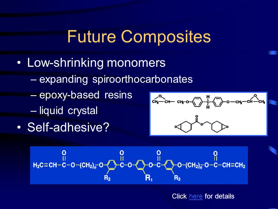 Future Composites Low-shrinking monomers Self-adhesive