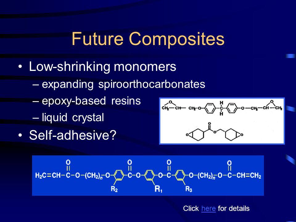 Future Composites Low-shrinking monomers Self-adhesive