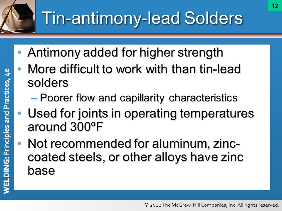Tin-antimony-lead Solders