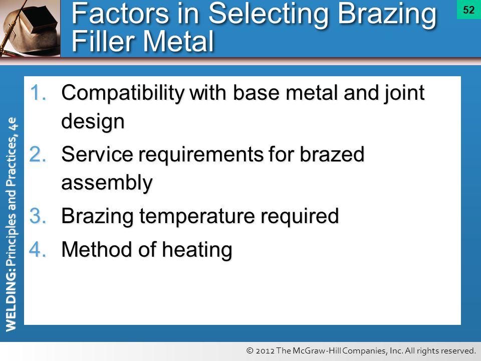 Factors in Selecting Brazing Filler Metal