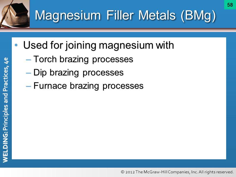 Magnesium Filler Metals (BMg)