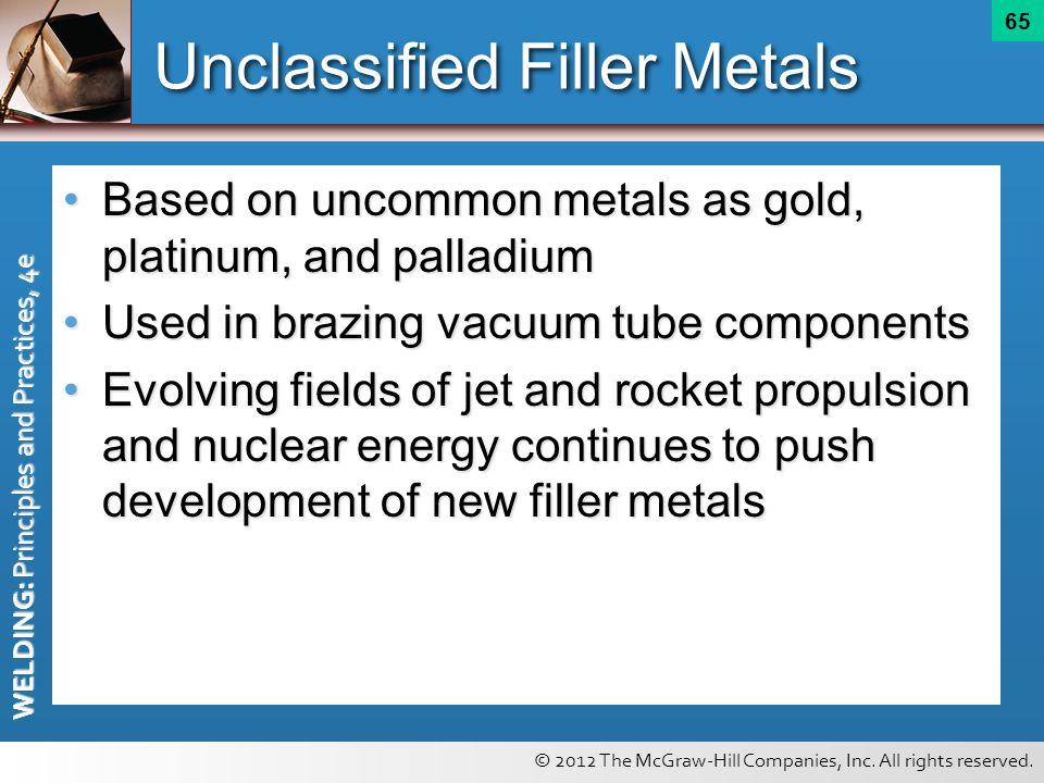 Unclassified Filler Metals