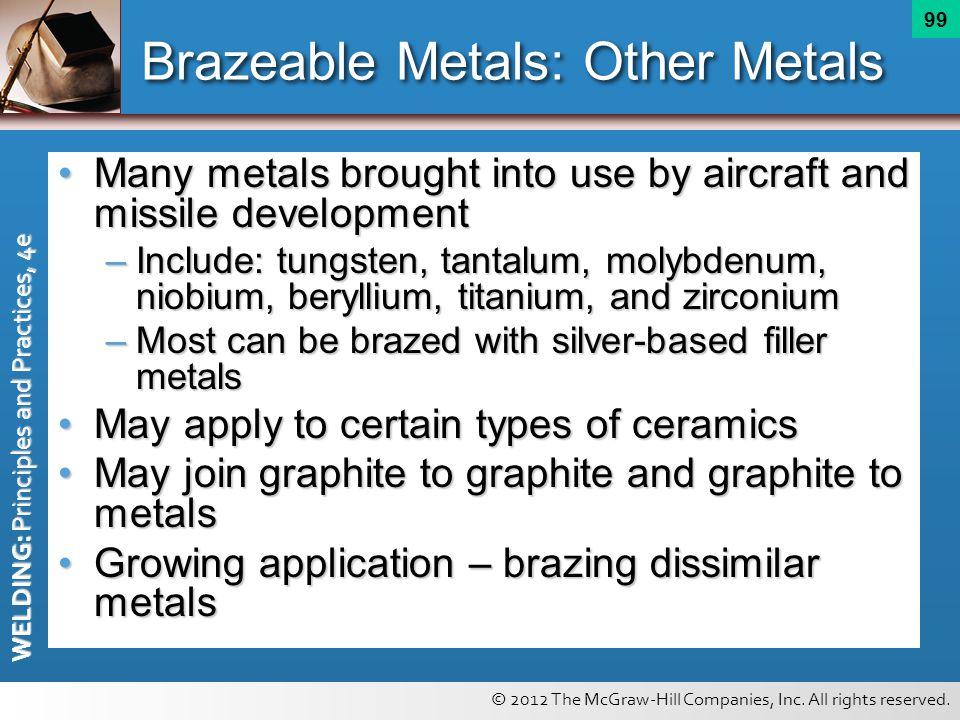 Brazeable Metals: Other Metals