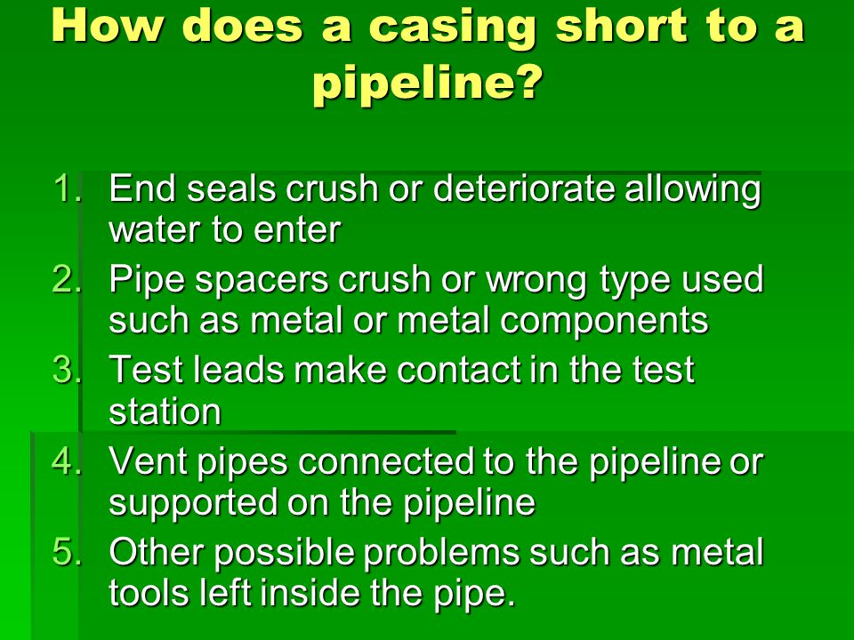 How does a casing short to a pipeline