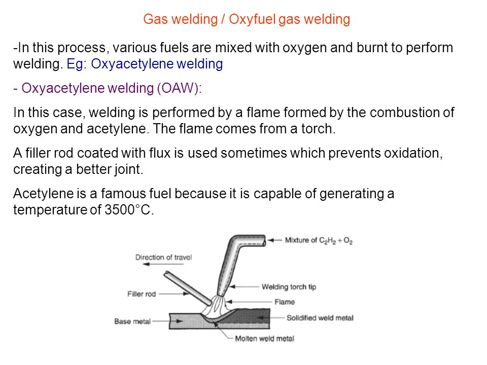 Gas welding / Oxyfuel gas welding
