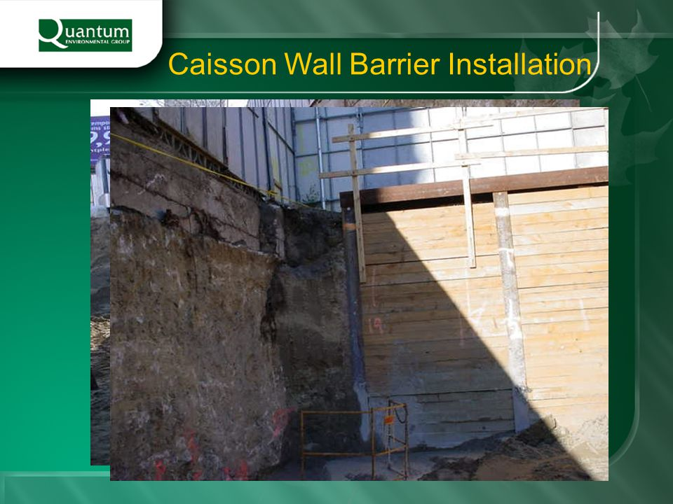 Caisson Wall Barrier Installation