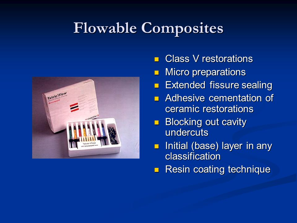 Flowable Composites Class V restorations Micro preparations