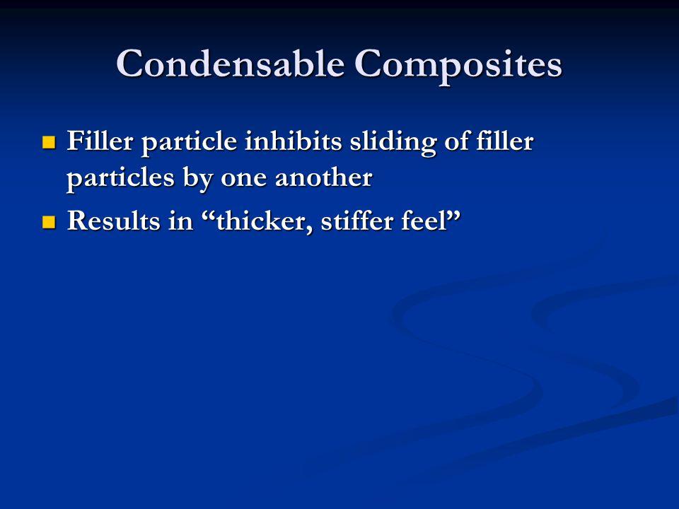Condensable Composites