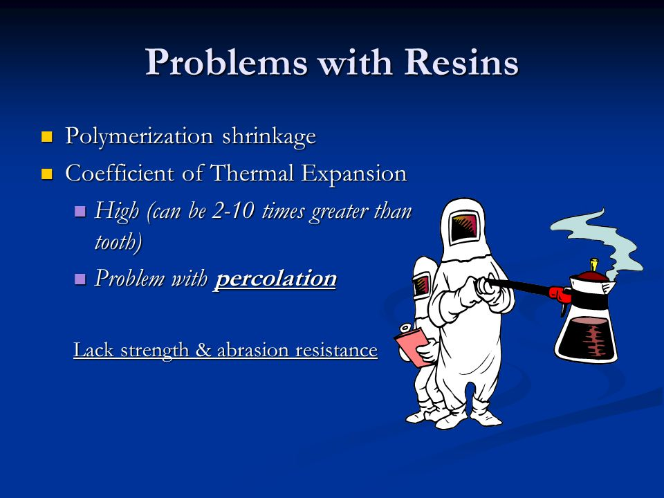 Problems with Resins Polymerization shrinkage