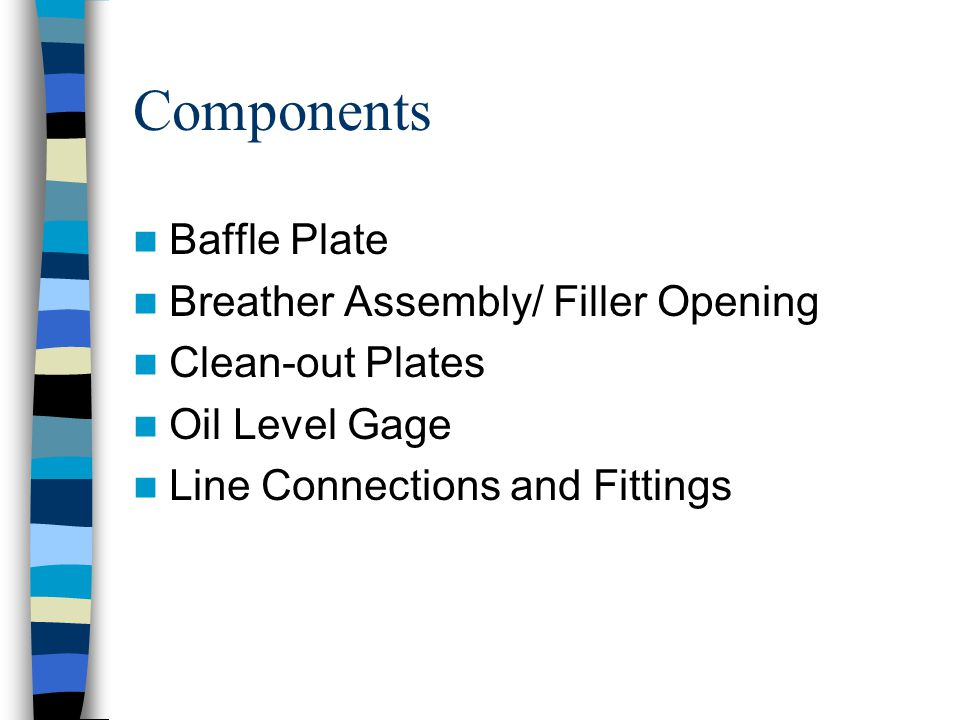 Components Baffle Plate Breather Assembly/ Filler Opening