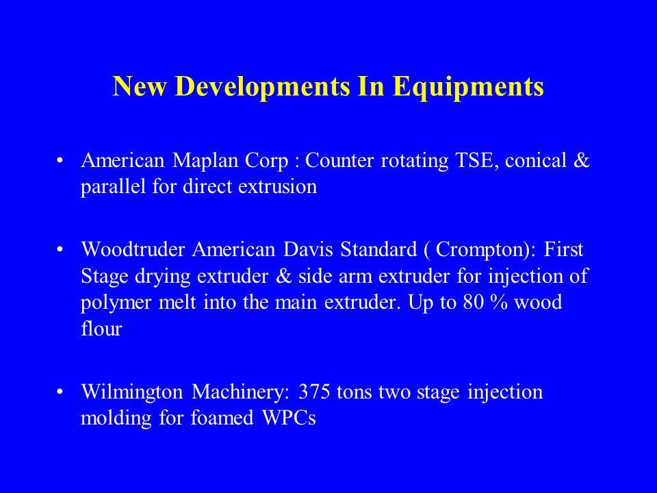 New Developments In Equipments