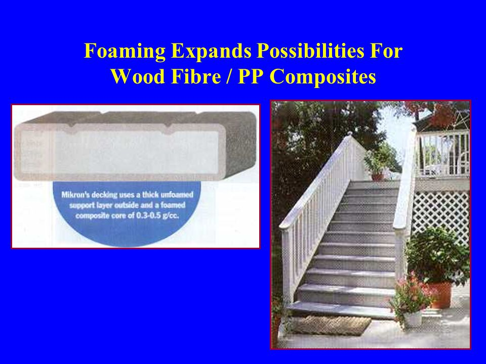 Foaming Expands Possibilities For Wood Fibre / PP Composites